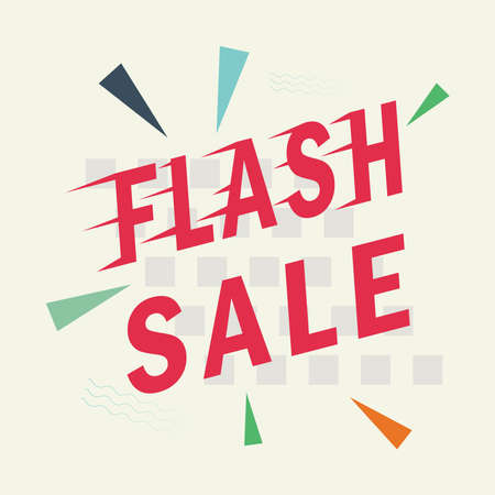 Flash sale banner design vector illustration Stock Illustratie