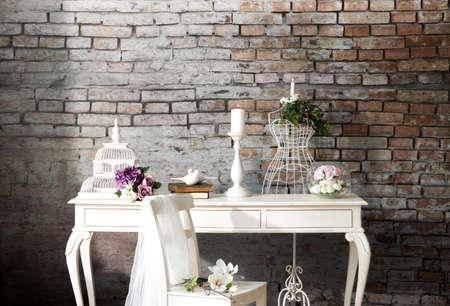 結婚式コンセプト インテリア 写真素材