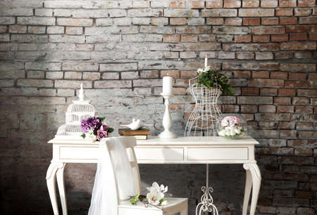Bruiloft concept interieur Stockfoto