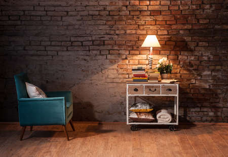 brick wall interior concept Stock Photo