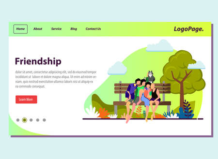 Friendship concept illustration vector for template landing page