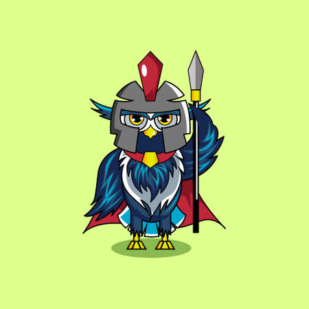 Illustration vector graphic of mascot owl gladiator