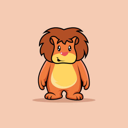 Illustration vector graphic of mascot lion is standing 向量圖像