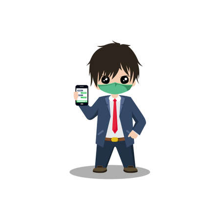 Illustration vector graphic businessman character design