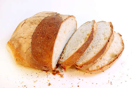 Cut bread to slices ready in order to eat
