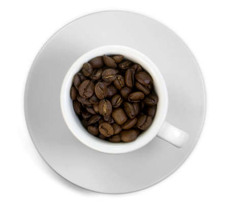 cup of coffee and Coffee Bean Stock Photo - 6281388