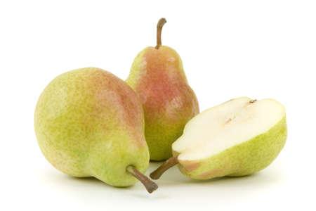 pear: Peras aislados sobre fondo blanco