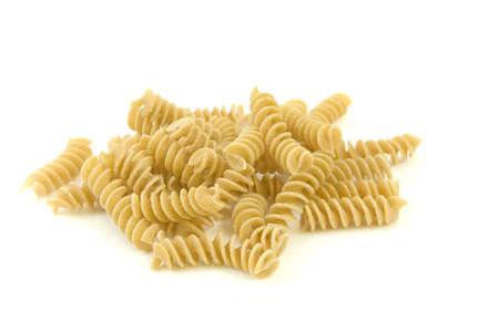 Pasta isolated over white background.