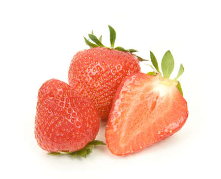 Strawberries isolated over white background  Stock Photo