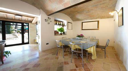 Interior ancient restaurant