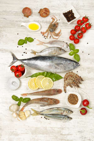 Fresh fish and other seafood