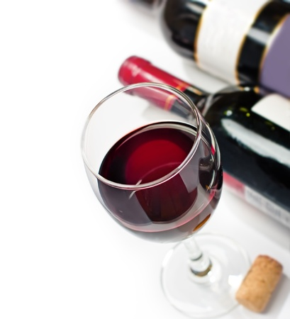 red wine: Red wine, isolated, wihite background