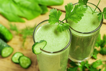 Healthy drink, vegetable juice, studio shot Stock Photo - 17844659