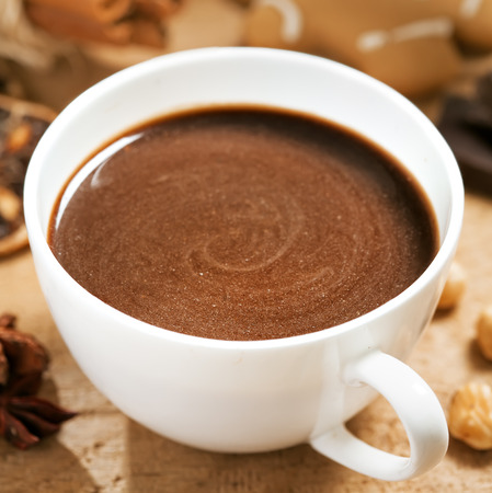 Kop warme chocolademelk Stockfoto