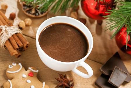 cioccolato natale: Cioccolata calda, Natale bevanda tradizionale con pan di zenzero