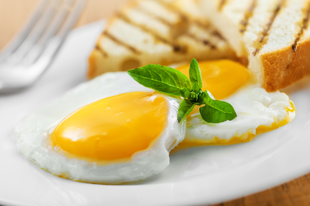 Fried eggs for healthy breakfast