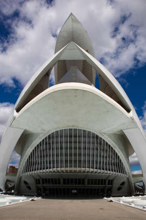 Valencia, Spain. April 8, 2012. Palace of the Opera Queen Sofia in the City of Arts and Sciences