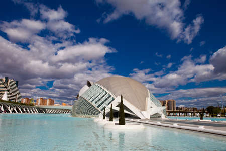 Valencia, Spain. April 8, 2012. Hemisferic in the City of Arts and Sciences