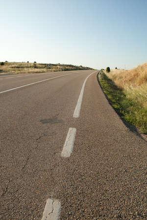 remoteness: deserted road