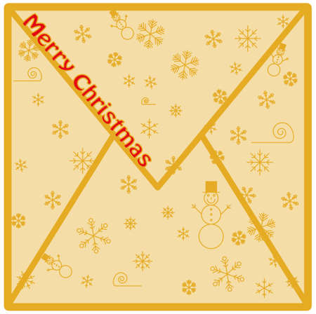 Merry Christmas Envelope Vector