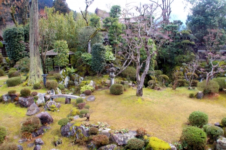 Japanese Old Temple Garden photo