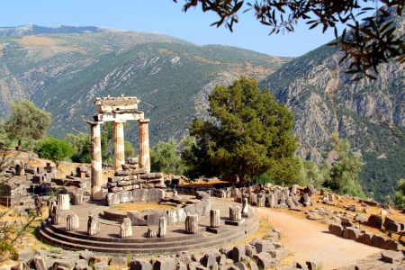 greece: Rural Delphi Temple, Greece