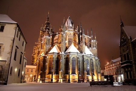 Prague at Night, Czech republic photo
