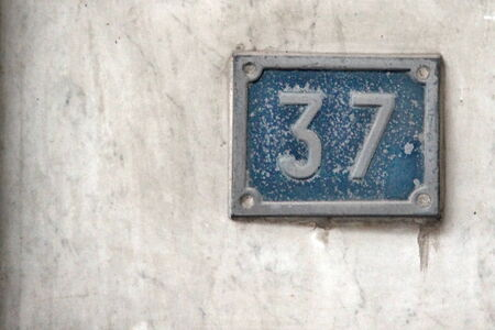 Photo of Building Identification Number made in the late Summer time in Spain, 2013 photo