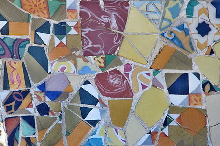 Photo of Ceramic Mosaic Pattern made in the late Summer time in Spain, 2013 photo