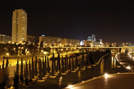 Photo City of Valencia at Night, Spain made in a late summer 2013 photo