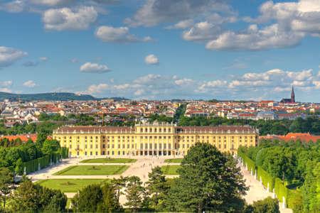 view of garden of Schonbrunn Palace. photo