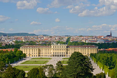 Photo shows general view of garden of Schonbrunn Palace. photo