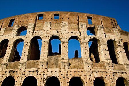 emporium: Photo shows remaining parts of the Rome empire ruins.