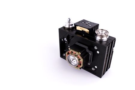 Camera in steampunk style made by hand from different parts and accessory