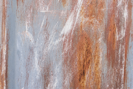 Detail of the old painted metal surface with clear surface structure, background