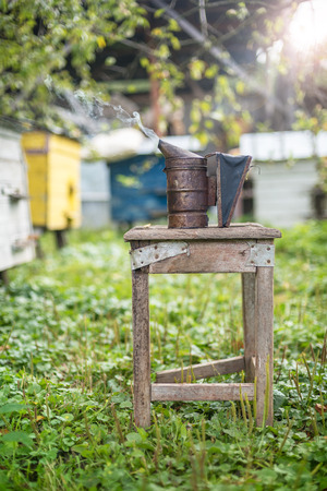 obtaining: Beekeeping equipment - bee smoker, own safety during the process of obtaining honey