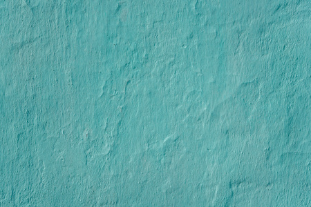 Wall whitewashed by lime, azure color, textured background. Ukraine Stock Photo