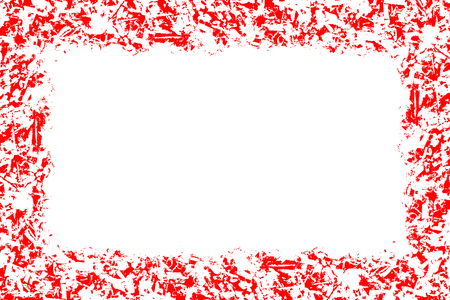 Abstract pattern, red and white colors, design background with empty center, copyspace