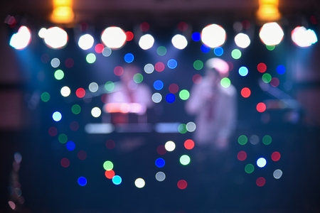 Blurry colorful background, light at a dance party, designer background for text overlay