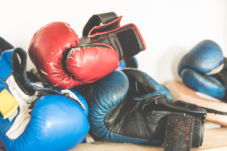 Tested time and training boxing gloves, boxing accessories, sport and workout
