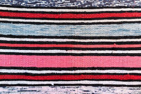 Textile in retro Ukrainian style, colorful background, closeup