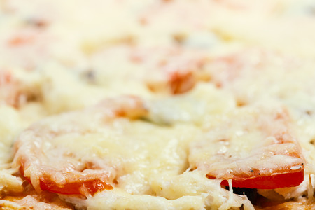 Fresh and fragrant pizza from oven. Fresh and fragrant pizza from oven. Background on food theme with copy space for text Stock Photo