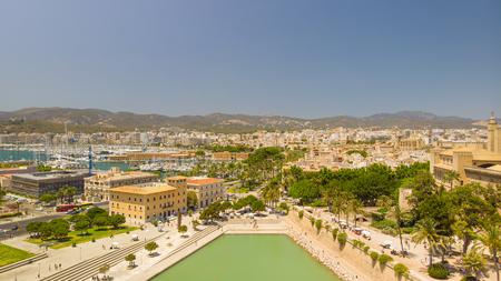 Cityscape. Aerial view of Palma city, Mallorca, Spain.