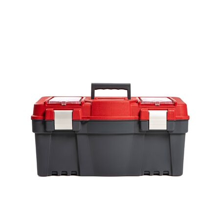 Plastic tool box isilated on a white background. Do it yourself idea.