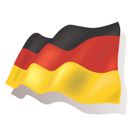 billowing: National flag - Germany Illustration