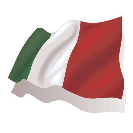flagge auf land italien: National-Flagge - Italien  Illustration