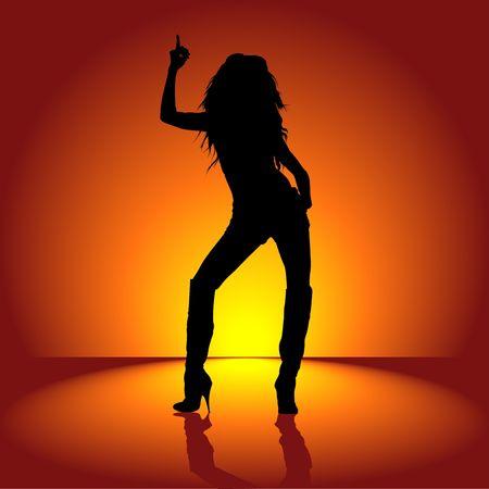gogo girl: Dancing Girl 01  Lizenzfreie Bilder