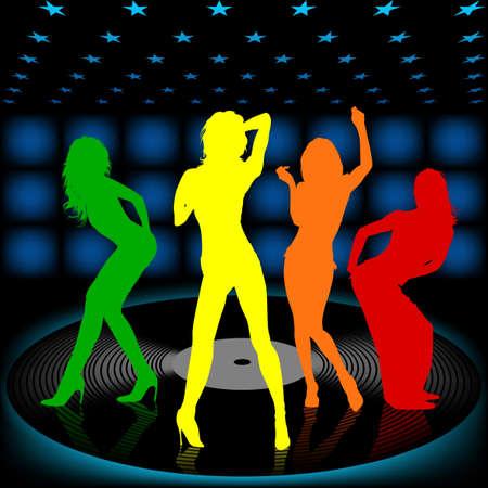 gogo girl: Dancing Girl 08 Lizenzfreie Bilder