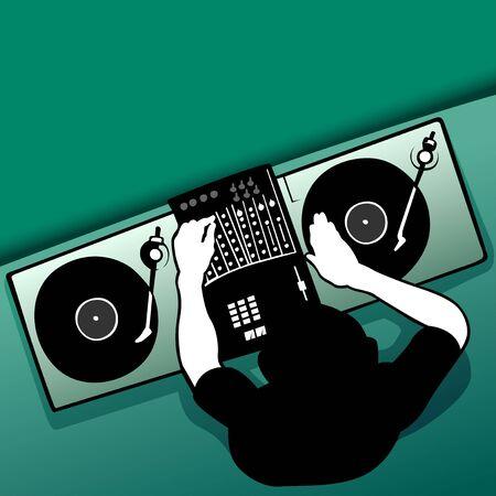 revelry: DJ job Stock Photo