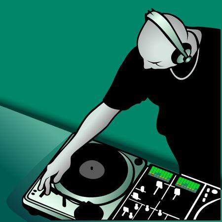 DJ mezclando  Foto de archivo - 645854